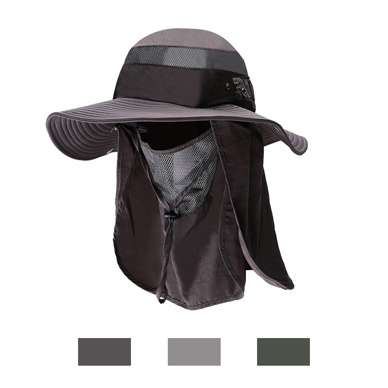 360°Outdoor UV Protection Ear Flap Neck Cover Sun Hat Cap Fishing Hiking Men/'s