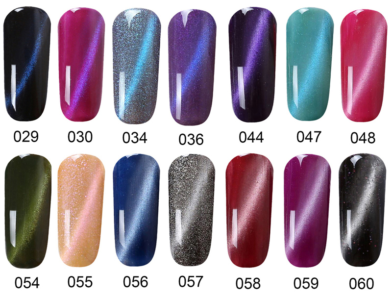 v.t.s Magic 3D Cat Eye Magnetic Gel Nail Polish Soak off UV/LED Nail ...