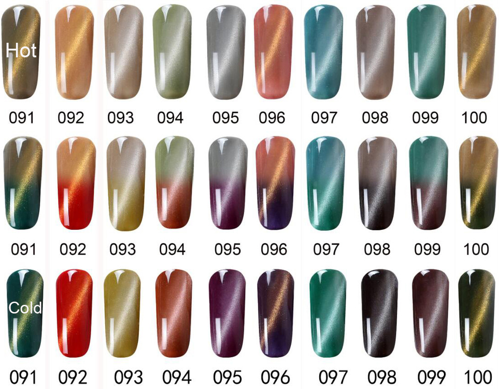 Cat Eye Magnet Color Change Gel Nail Polish Soak off UV/LED Nail Art ...