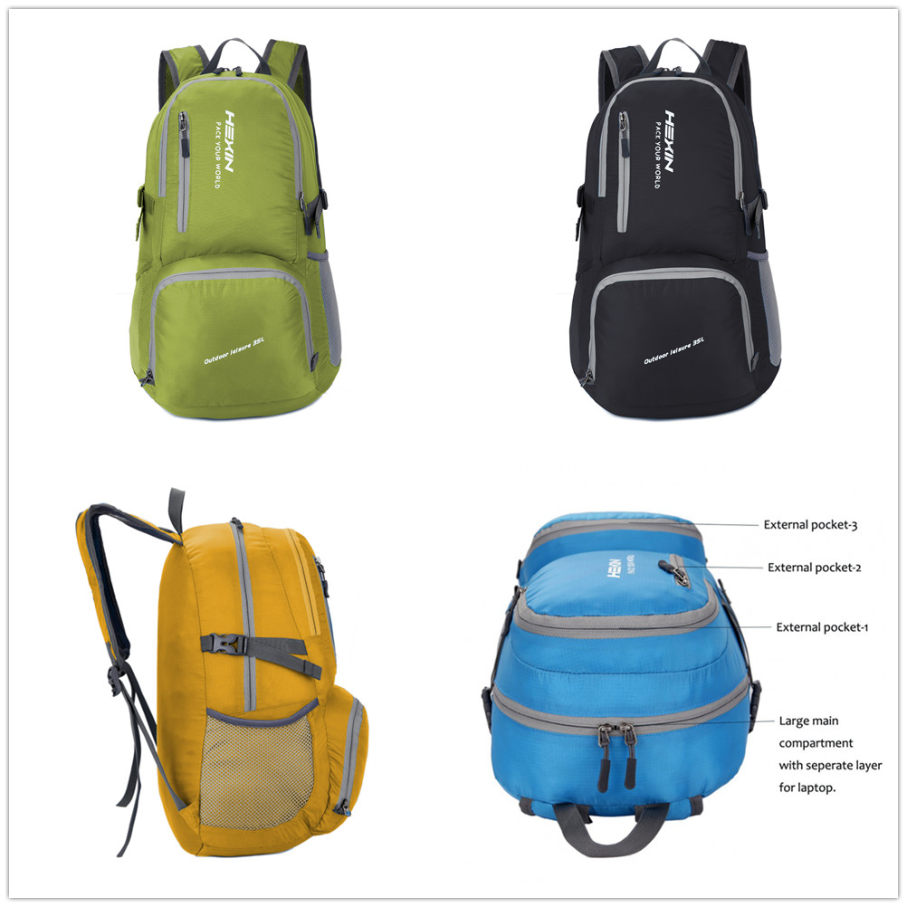 57b5014c7f6e 35L Lighweight Outdoor Sport Travel Backpack Packable Hiking Water  Resistant Bag