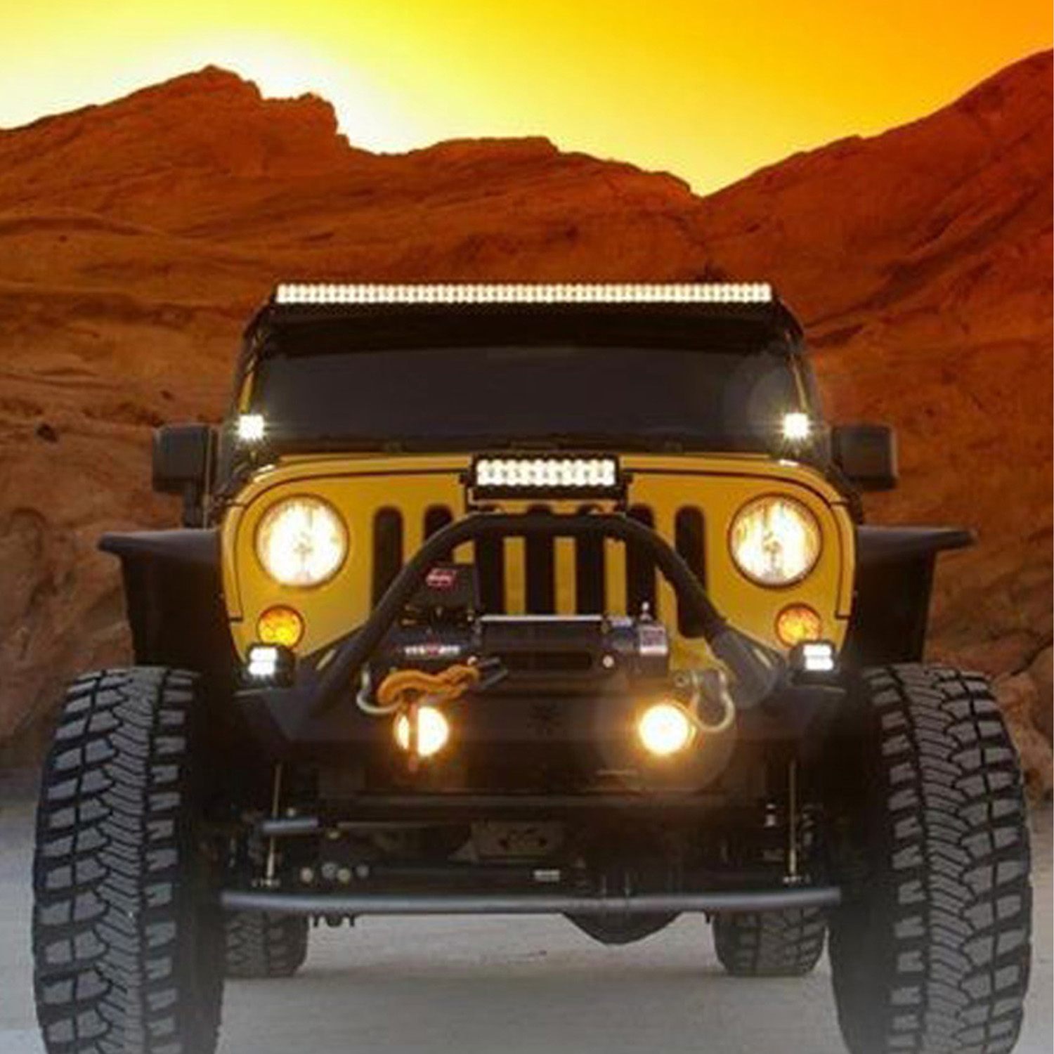 Tuff Plus 12inch 72w Led Light Bar Combo High Beam For Jeep With Hardtop Wiring Harness Cree Offroad Suv Wrangler