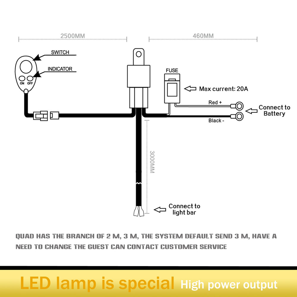 Led Light Bar Wiring Diagram For 52 Will Be A Thing Rc Tuff Plus 12inch 72w Combo High Beam Jeep With Rh Ebay Com Relay Guide