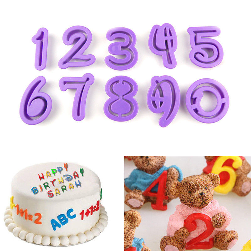 Cake Decor Letters : Alphabet Letter Number Cake Fondant Decor Biscuit Cookie ...