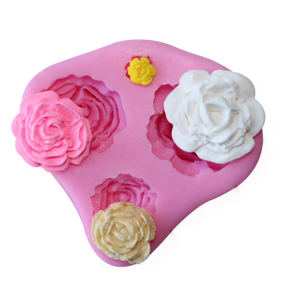 Romantic Style Flowers Series Fondant Mold Silicone Sugar