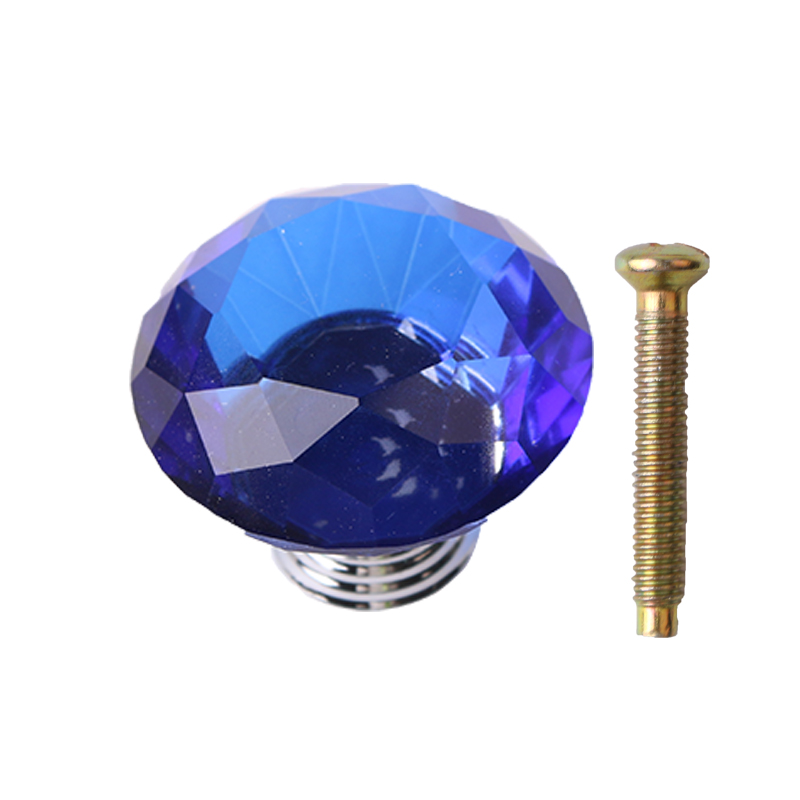 Diamond Glass Crystal Door Knob Drawer Cupboard Cabinet