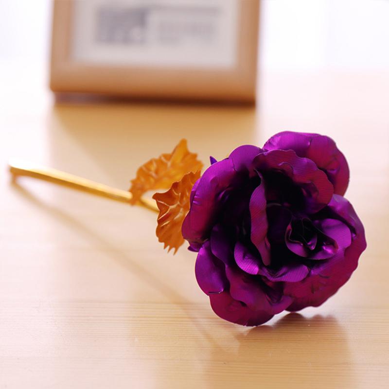 24k Gold Plated Rose Flower Anniversary Girlfriend Wife
