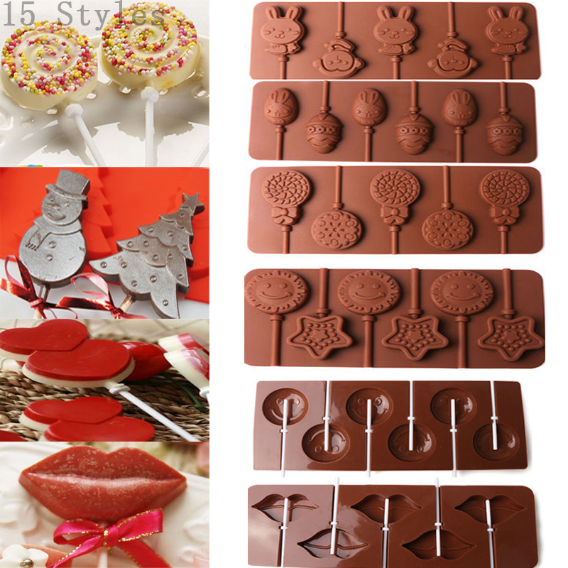 Details about Lips Lollipop Cake Mold Flexible Silicone Mould For Candy  Chocolate+Sticks