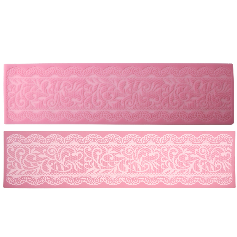 Cake Decorating Borders : Vintage Lace Cake Decoration Border Mat Silicone Icing ...