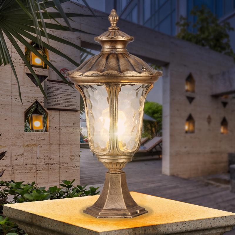 Details About French Provincial Metal Lantern Clear Gl Outdoor Garden Gate Pillar Lights