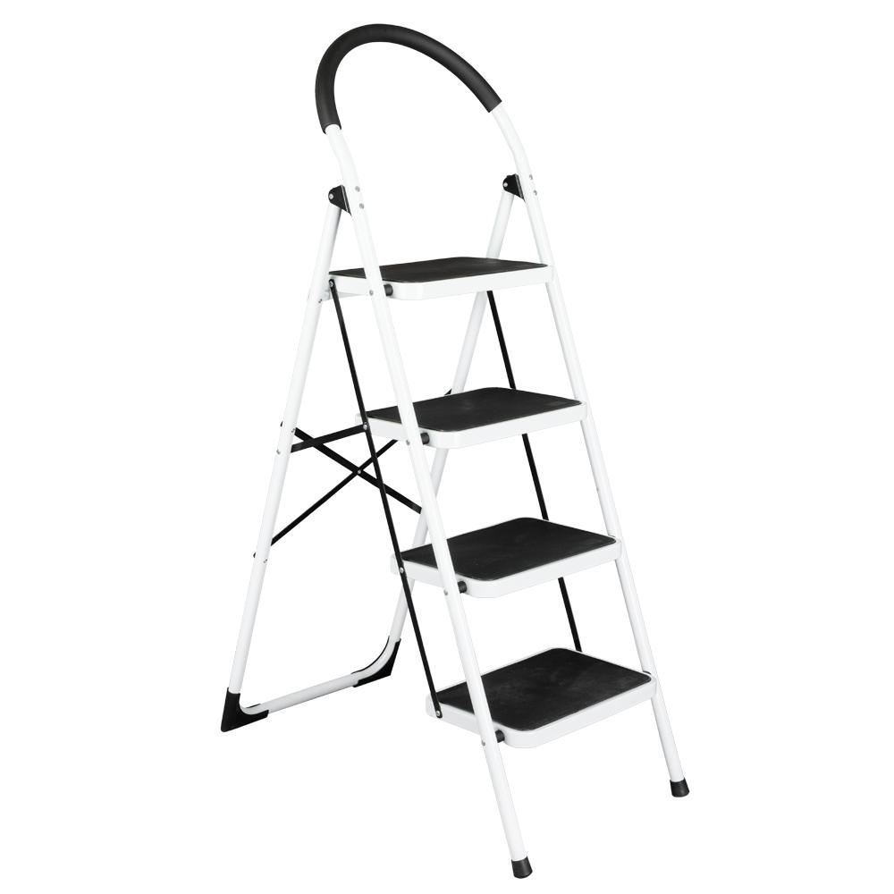 2 3 4 Step Ladder Folding Stool Heavy Duty 330lb Capacity