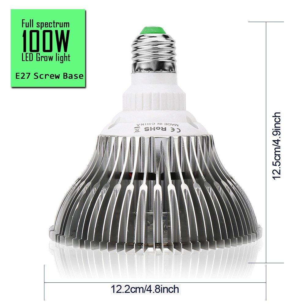 E27 30//50//80//100W LED Grow Light Pflanzenlicht Vollspektrum Pflanzenlampe Birne