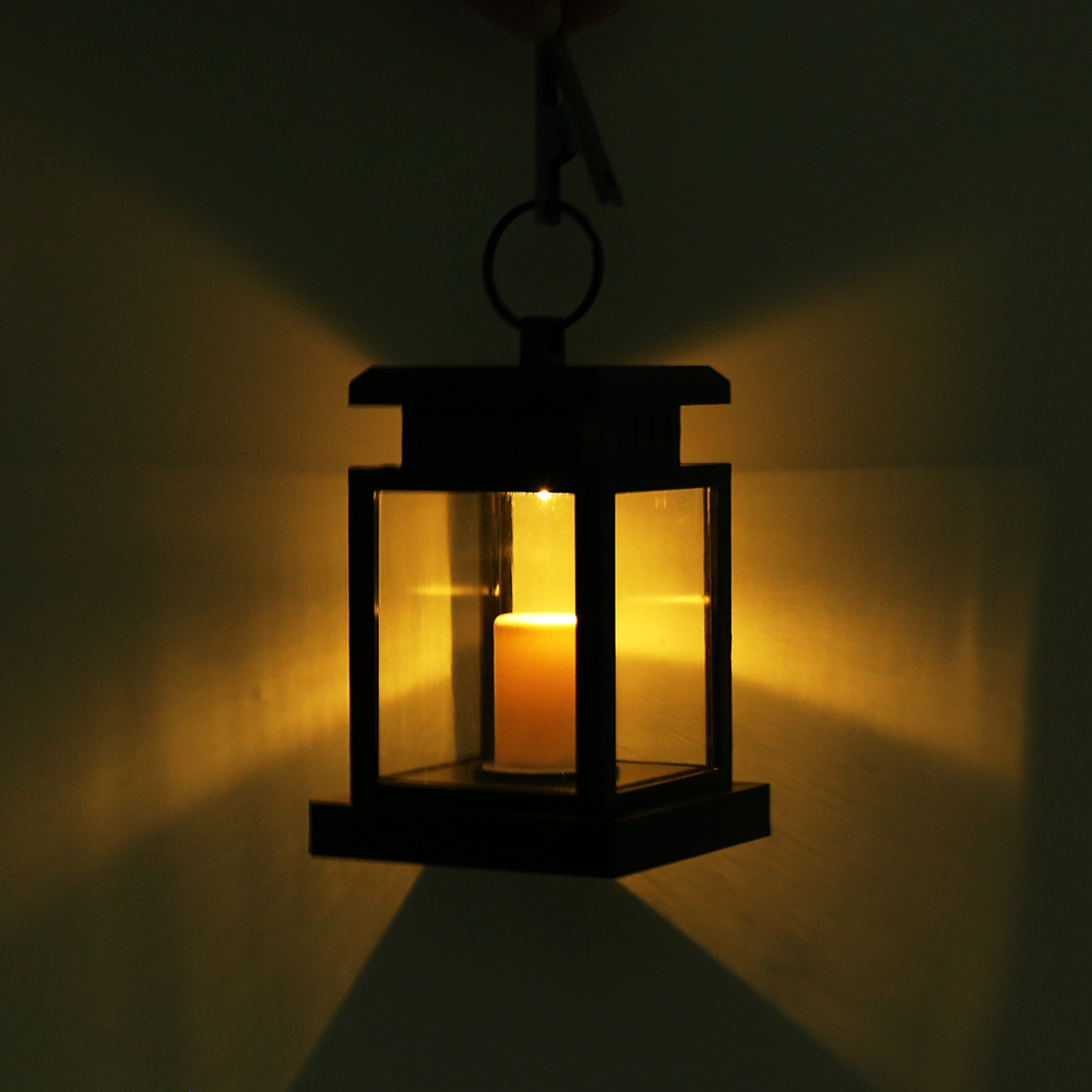 Hanging Outdoor Lights Without Trees: Outdoor Hanging Candle Light Solar Powered Led Garden Wall