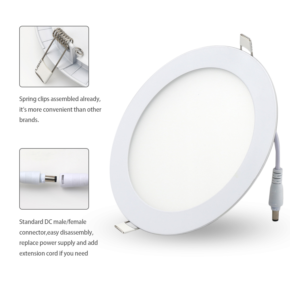 15w Ultra Thin Round Led Panel Light Recessed Lights For Lighting Driver