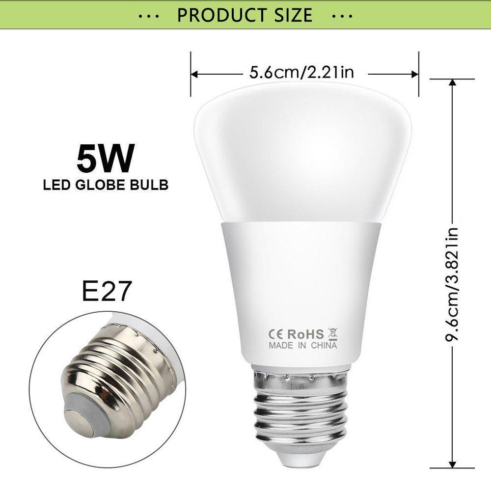 5W E27 RGB Bunte LED Birne 16 Farbwechsel Lampe Licht mit 24 Key ...