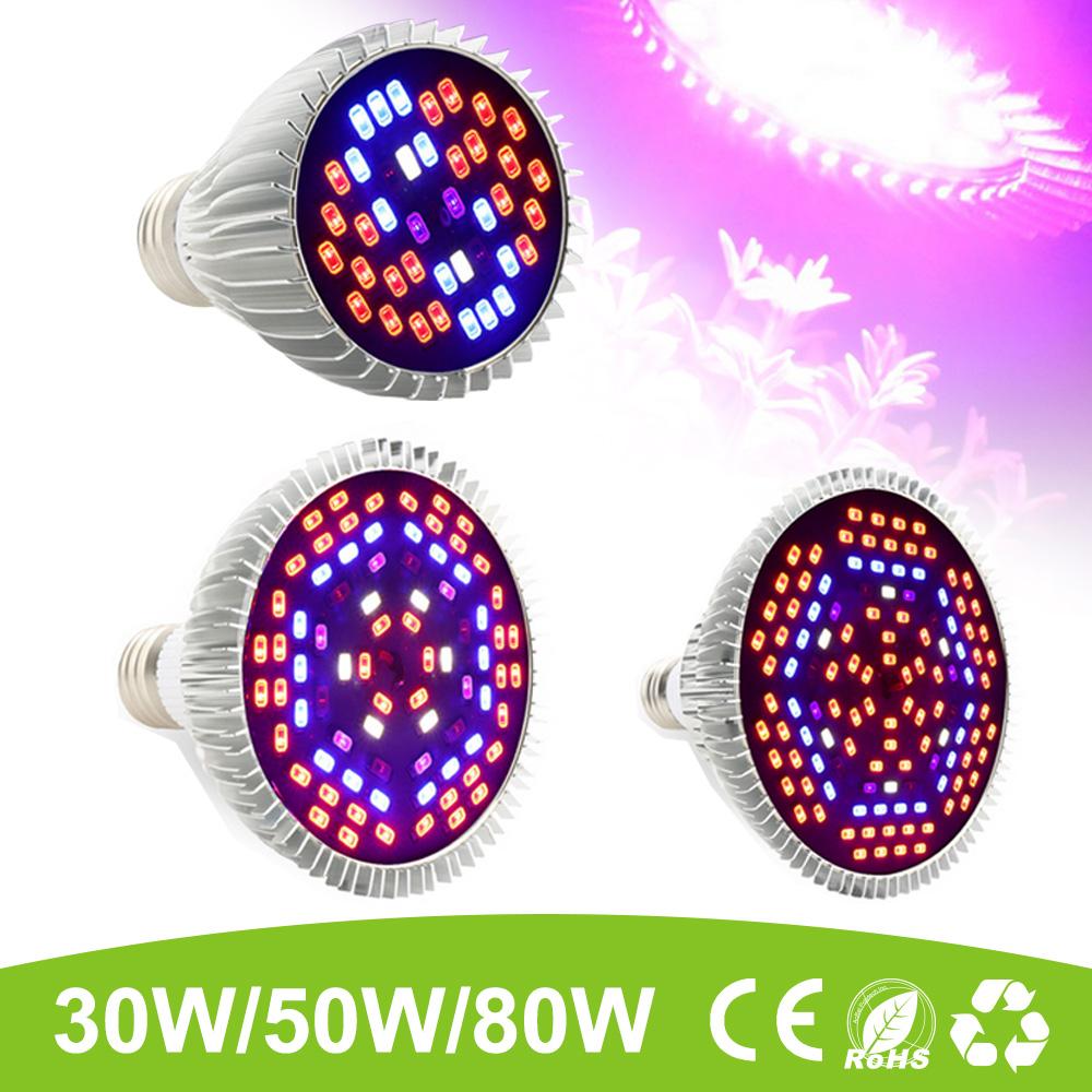 E27 30W 50W 80W Vollspektrum LED Grow Light Pflanzen Grow Lampe ...