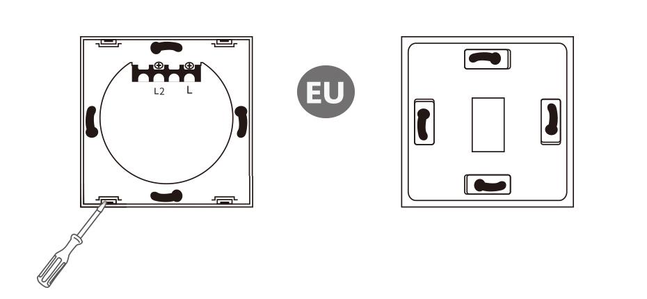 tuya smart life wifi switch dimmer touch panel 1 2 3gang eu  uk for alexa google