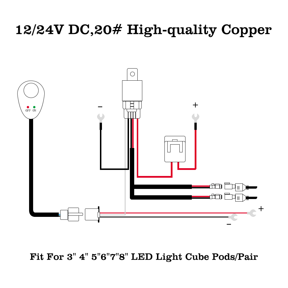 Wiring Harness Relay Rocker Switch 2