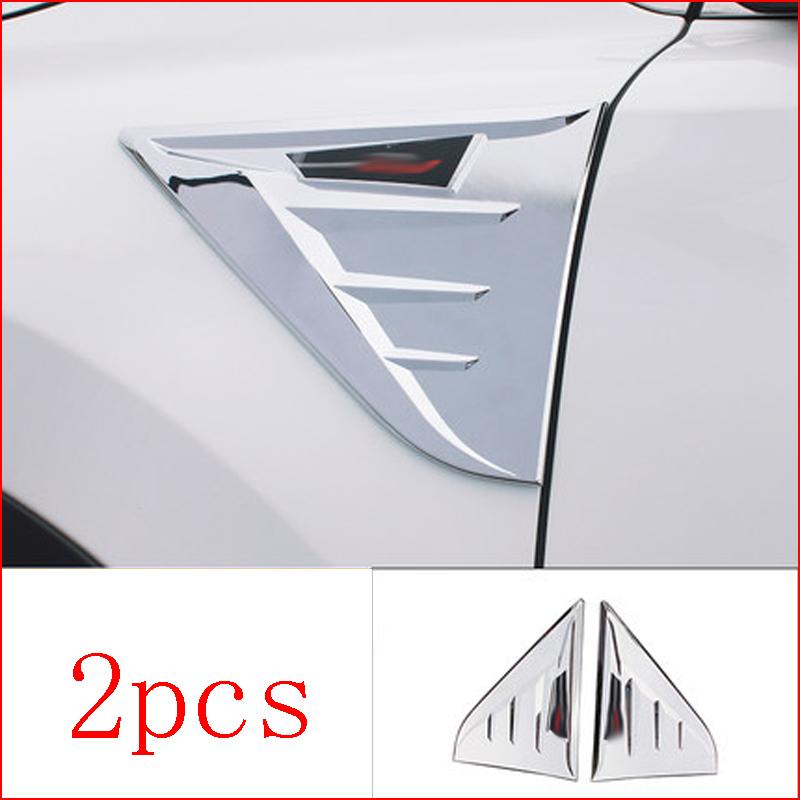 2Pcs ABS Chrome Color Body Side Hood Emblem Trim For Honda CRV CR-V 2017-2018