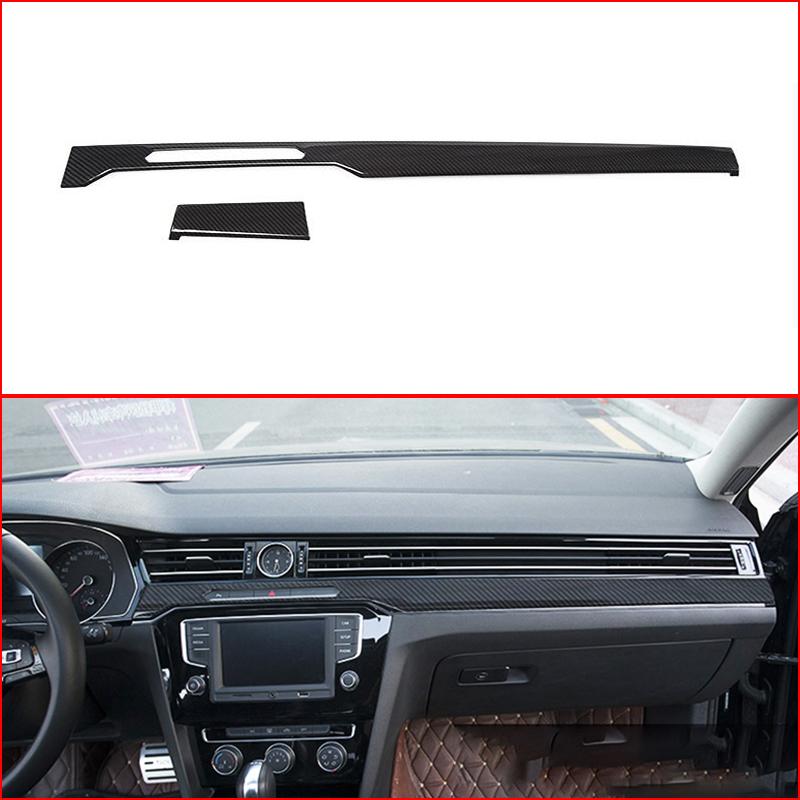 Fits Volkswagen Passat 12-UP Carbon Fiber Interior Dashboard Dash Trim Kit Parts