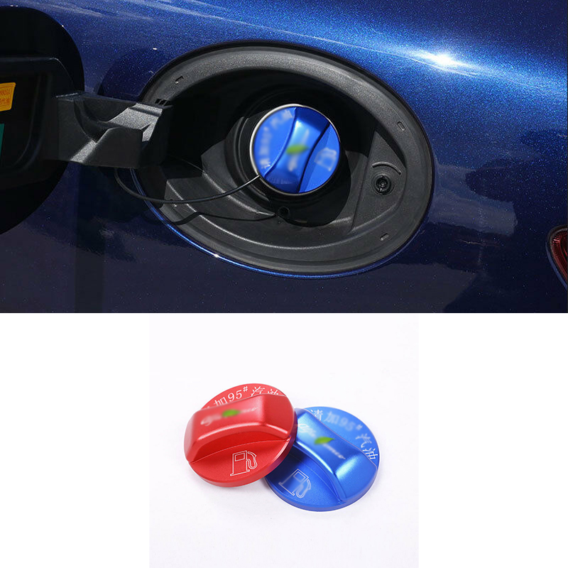 Red Blue Gas Fuel Tank Cover Cap Trim For Alfa Romeo