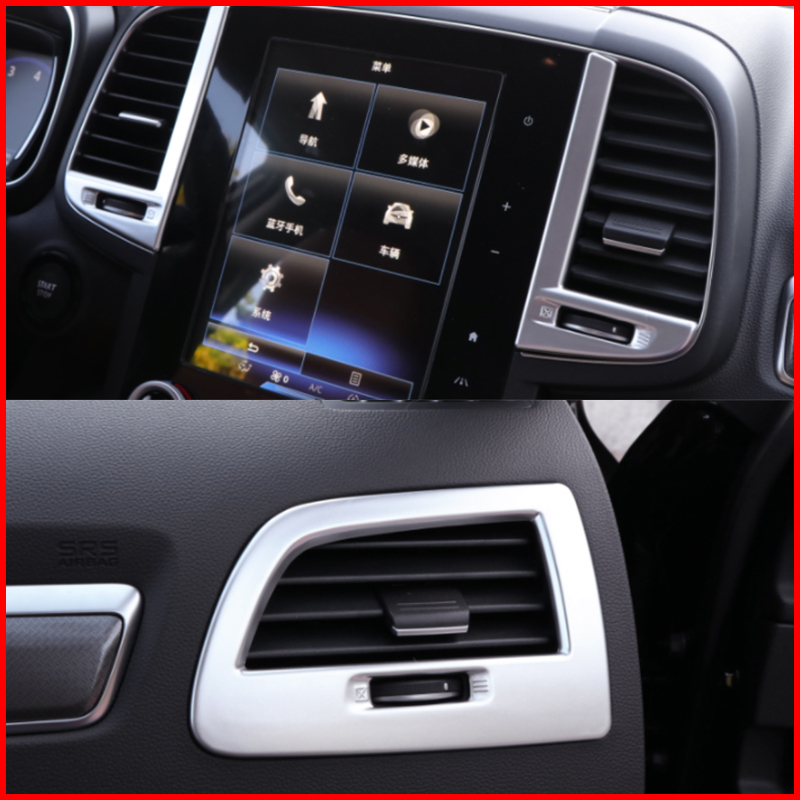 Matte Interior Upper Air Vent Outlet Cover Trim For
