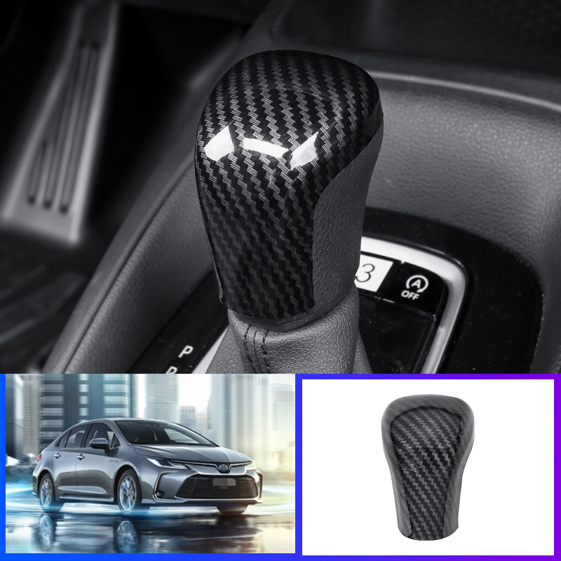For toyota Camry 2018-2019 Carbon Fiber Color Inner Gear Shift Knob Cover ABS