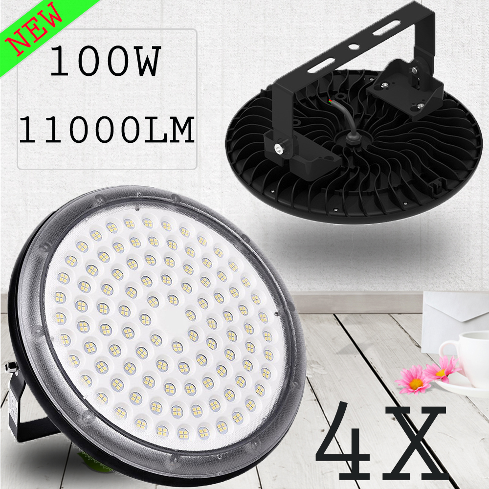 5X 150W UFO LED High Bay Light Warehouse Factory Fixtures Mall Market Cool White