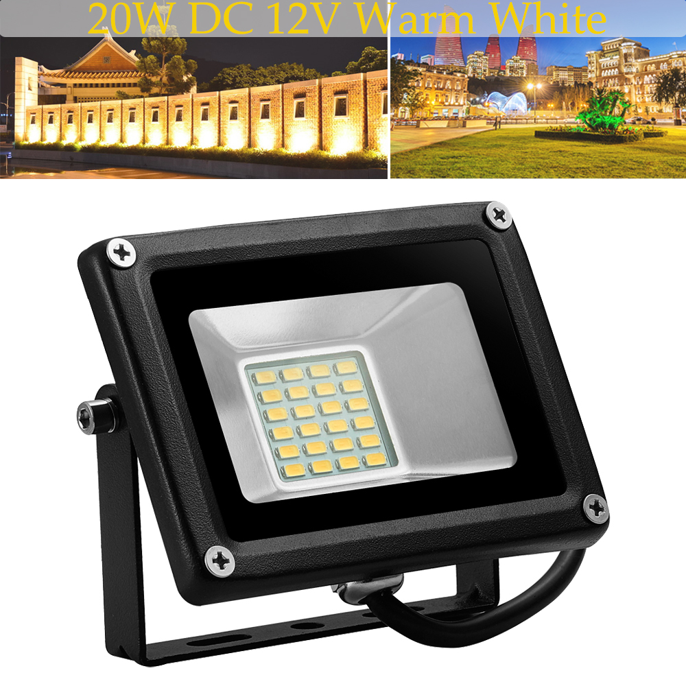 20W LED Flood Light Warm White Outdoor Path Landscape Lamp