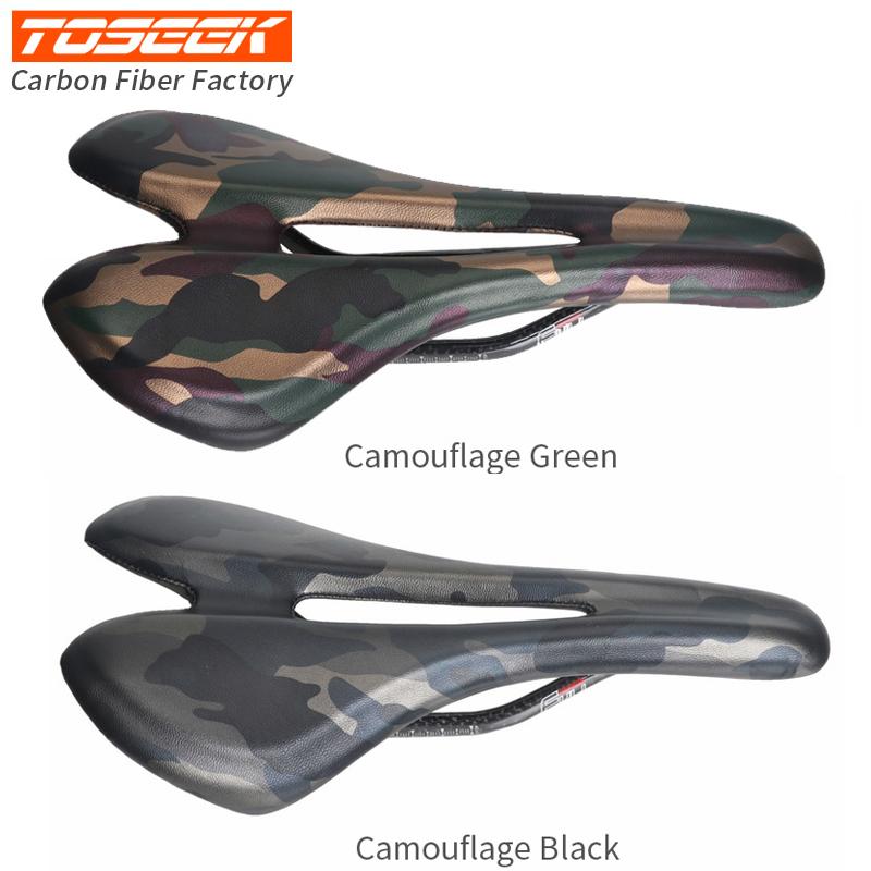 TOSEEK Full Carbon MTB Road Bike Saddle Comfort Big Hollow Racing Seat Cushion