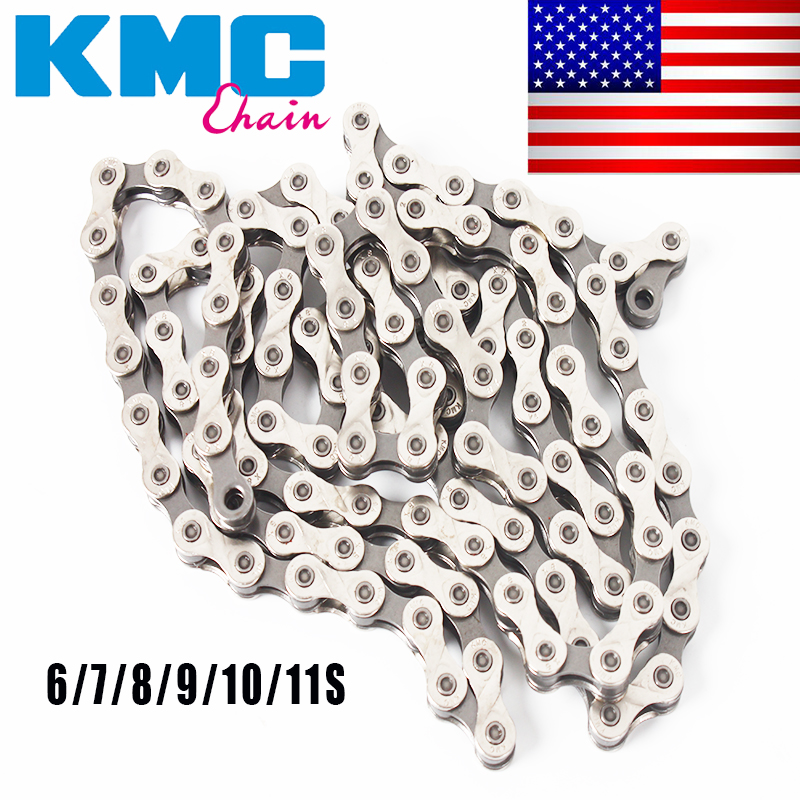 """KMC 6-11Speed Chains Mountain Road Bicycle Cassette Sprocket double /""""X/"""" bridge"""