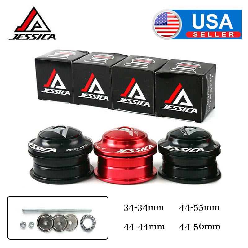 US STOCK 34//44-44//44-55//44-56mm Fit 28.6mm 1-1//8in Fork//Frame MTB Bike Headset