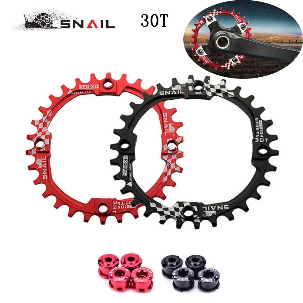 SNAIL 30T 104BCD MTB Bike Chainring Round Narrow Wide Mountain Chainwheel Bolts