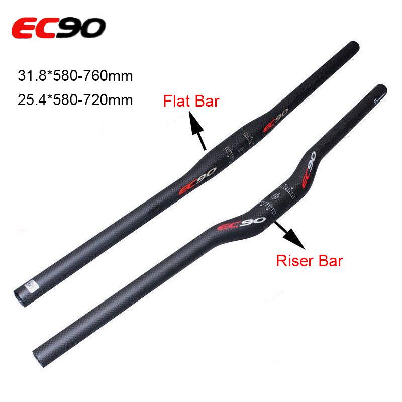 Carbon 3K Mountain Bike Handlebar Riser//Flat Bar MTB Bicycle Handlebar 31.8mm