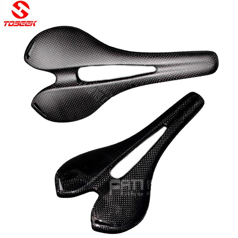 TOSEEK Full Carbon Bike Saddle Seat Bicycle Saddle Cushion Non-slip MTB seat