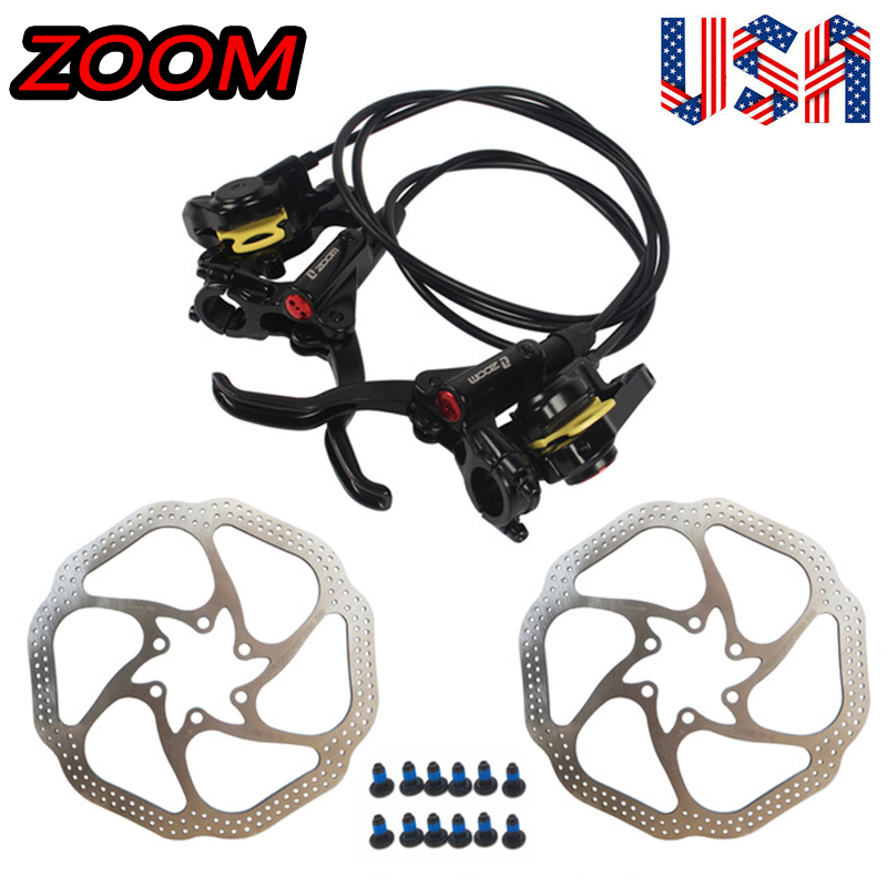 ZOOM MTB Bike Hydraulic Disc Brake HB-875 Set 160//180mm Disc Brake Rotor 6 Bolts