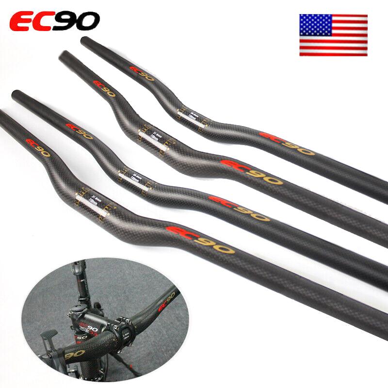 EC90 Carbon Fiber Handlebars 25.4//31.8*660-760mm MTB Road Bike AL Stem 90//110mm