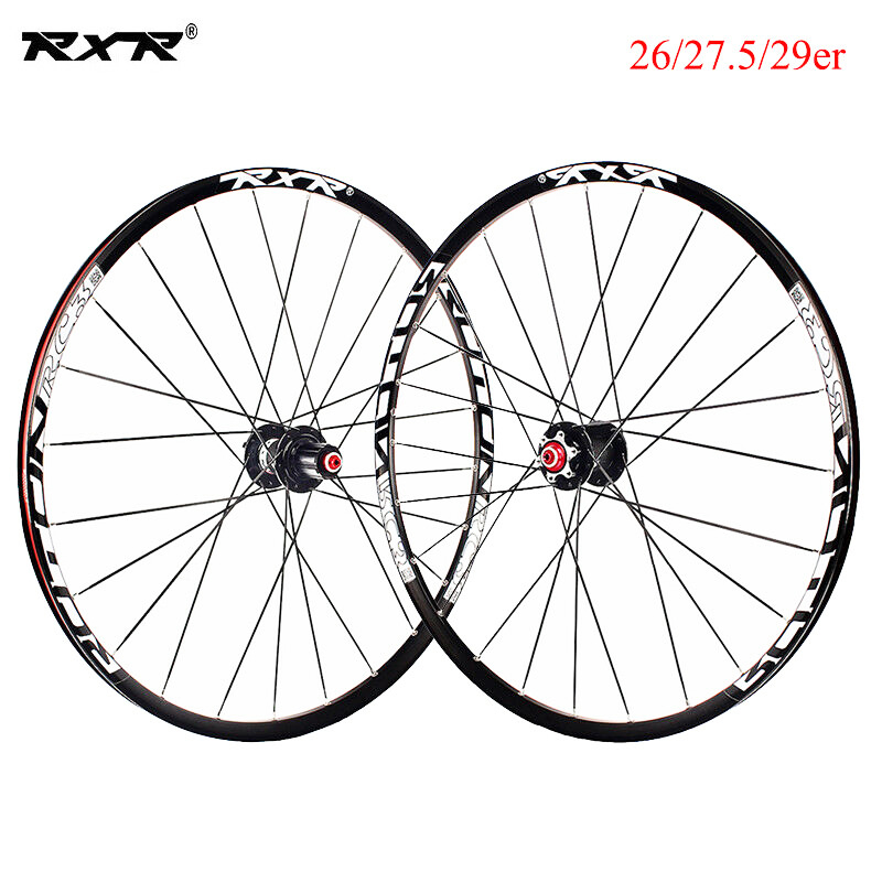RXR 7-11 Speed Thru Axle//QR MTB Wheels 26//27.5//29er Disc Mountain Bike Wheelsets