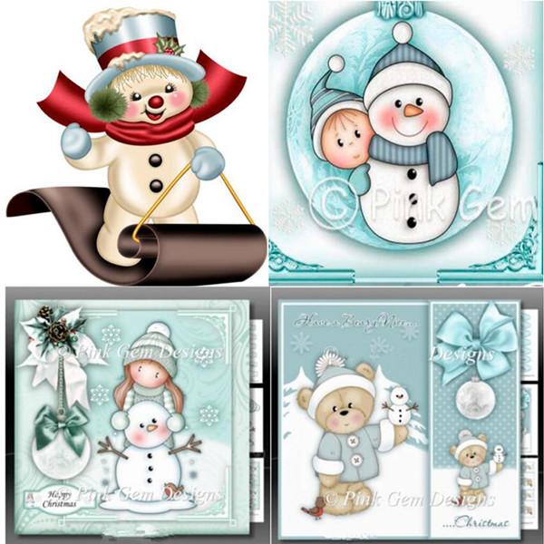1Pcs Christmas Snowman Cutting Dies Stencil Scrapbooking Album Embossing Craft