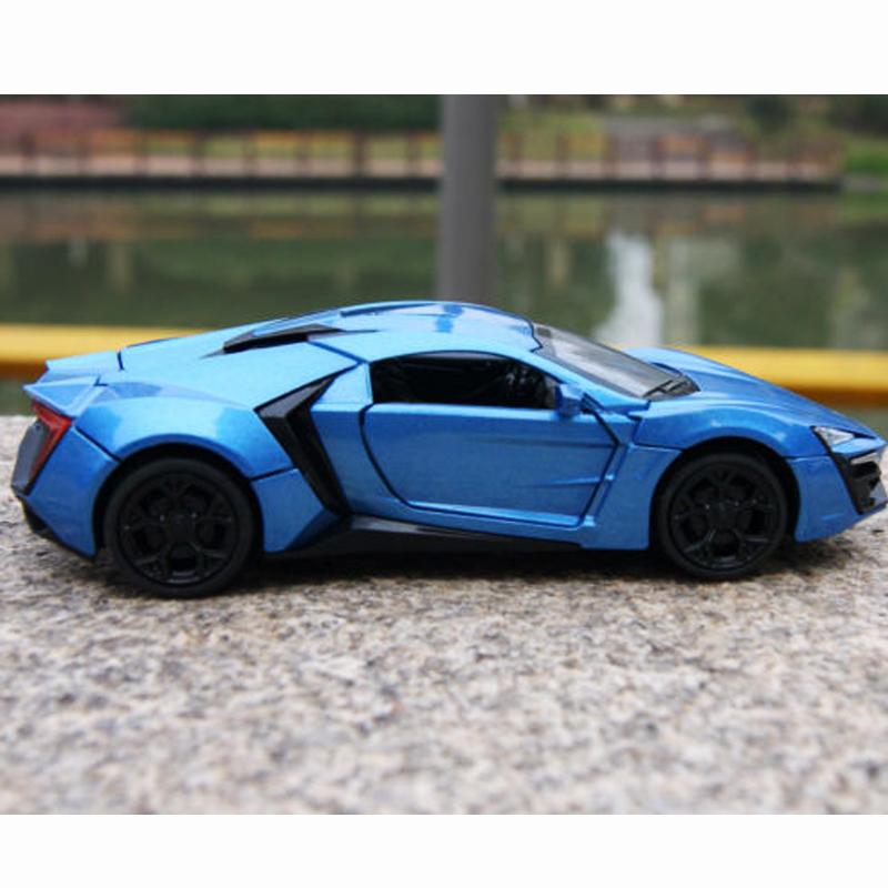 Lykan Hypersport Sound /& Light Model Cars 1:32 Blue Toys Gifts Alloy Diecast New