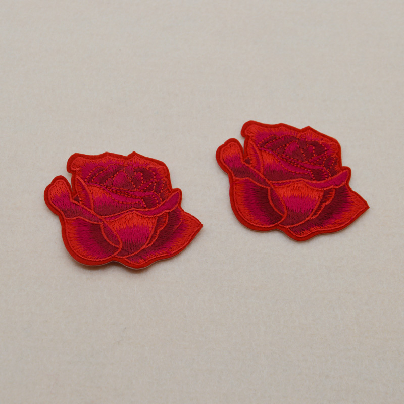 Rose-Flower-Embroidered-Iron-on-patches-sew-on-
