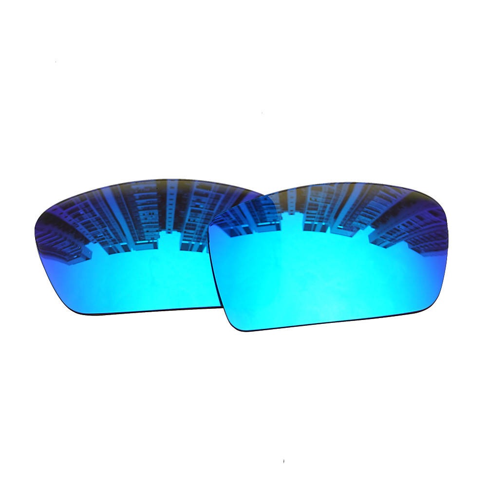 e5fbafb3b0 HAWOIGCI Polarized Blue Replacement Mirror Lenses For-Oakley Gascan  Sunglasses