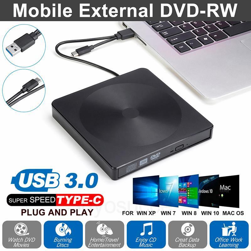 USB 3.0 External CD DVD RW Drive Writer Burner Reader for ...