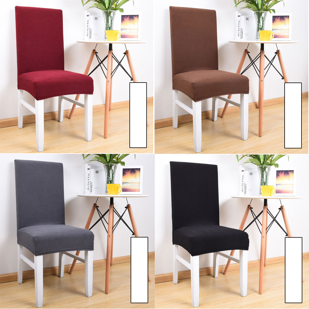 1//2//4Pcs Chair Cover Stretchy Hotel Seat Protector Dining Room Banquet Decor