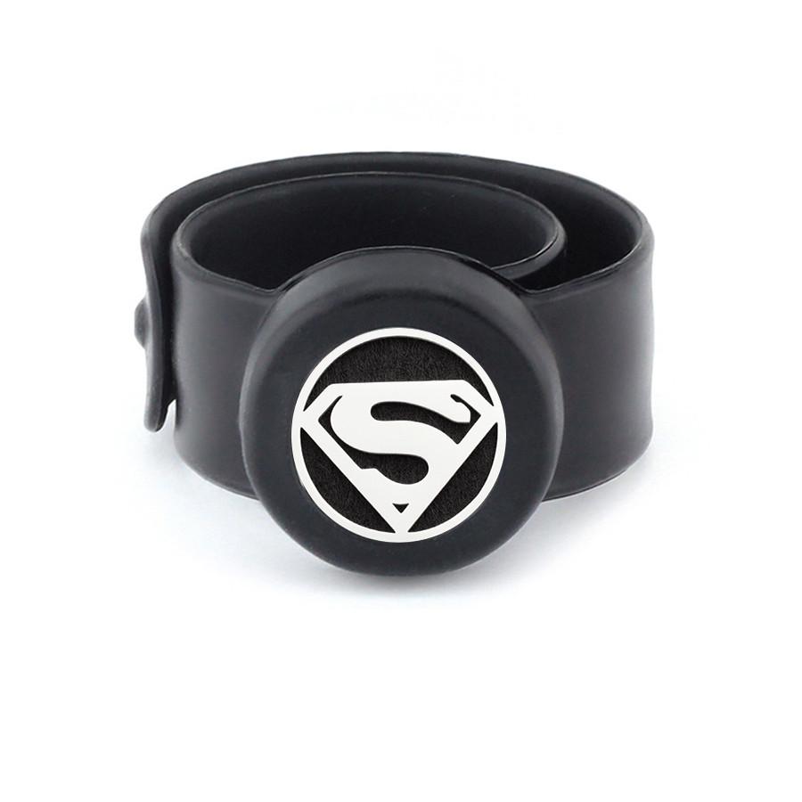 Kids Silicone Slap Bracelet Aroma Essential Oil Superman