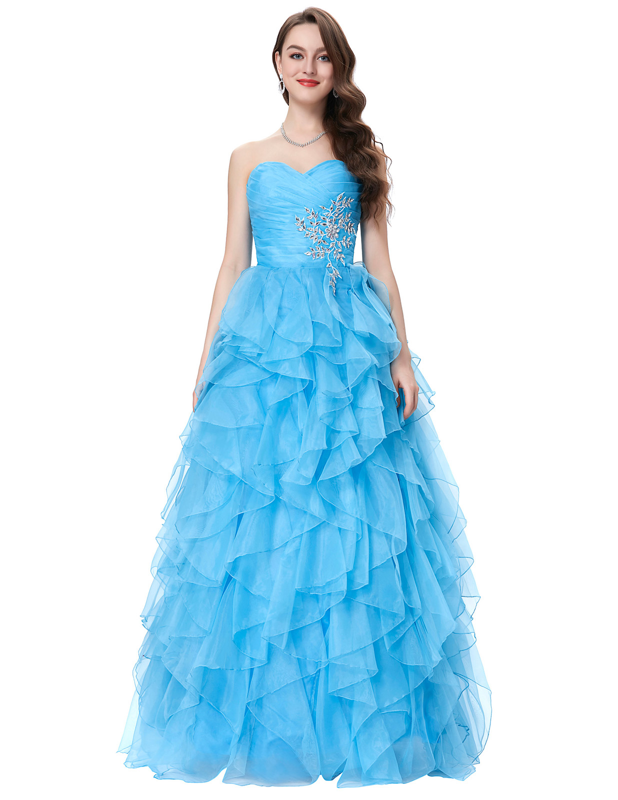 Hot Quinceanera Bridal Dresses Formal Prom Party Ball Gown Pageant ...