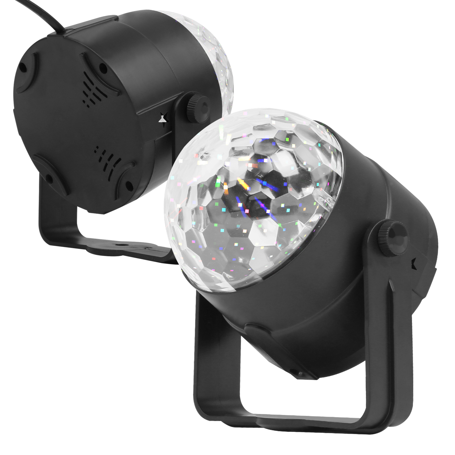 RGB LED Crystal Ball Disco Stage Light Projector Christmas Party Sound Control