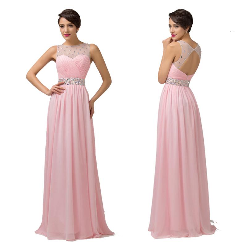 Largo Vestido de noche fiesta vestido de dama de honor de novia ...