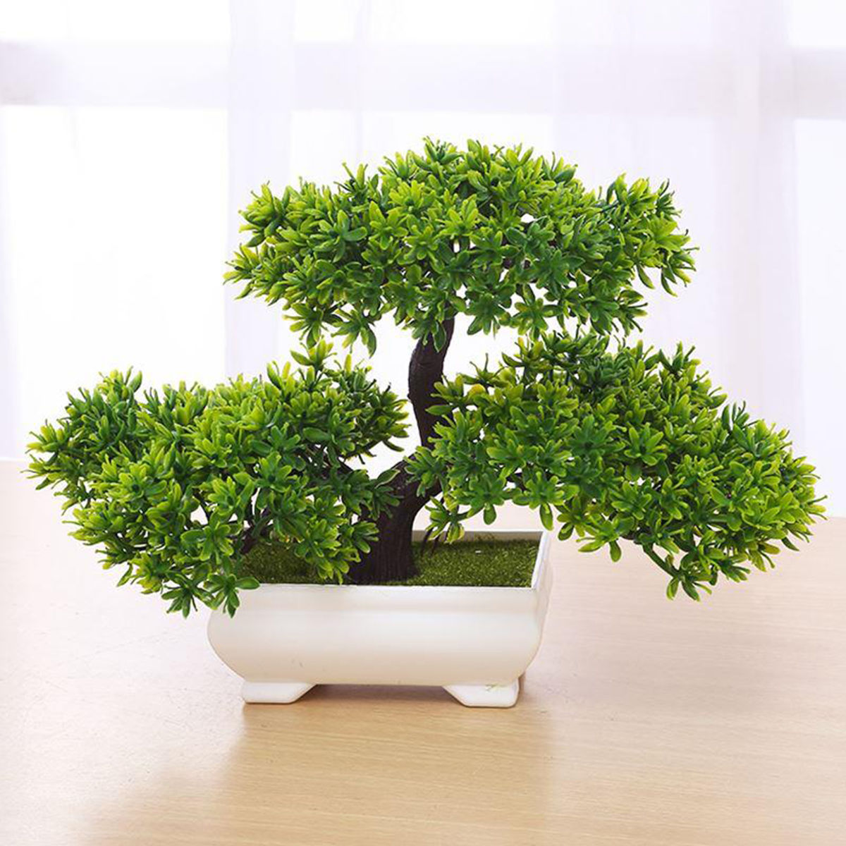 bonsai tree for office. Bonsai Tree In Square Pot - Artificial Plant Decoration For Office/Home 18cm Office R