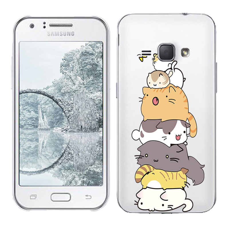 Soft TPU Silicone Case For Samsung Galaxy J1 2016 SM-J120F Back Cover Skin Clear