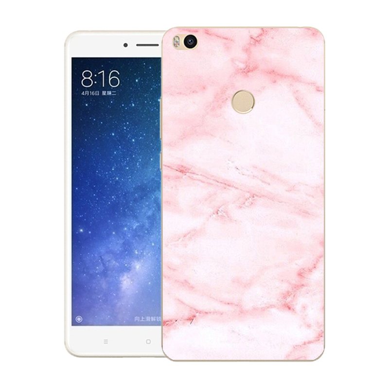 """6.44"""" Soft TPU Silicone Case For Xiaomi Mi MAX2 Phone Back Covers Skins Marble"""